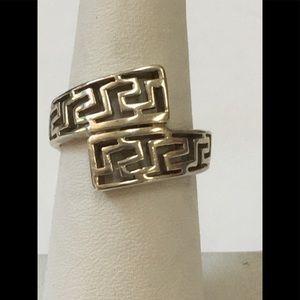 Sterling Silver Greek Key Design Ring